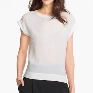 Theory Sorcha Silk Top in White